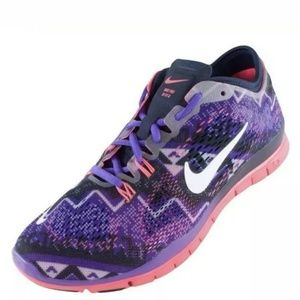 Nike Free Women's 7.5 Pink and Purple Running Shoe